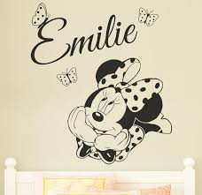 MINNIE MOUSE Personalised Disney Wall Sticker  Decal For Kids - Disney wall decals for kids rooms
