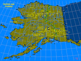 Alaska Flight Map by Juneau Flight Service Station