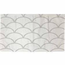 White Grey Rug Buy Thumbprintz Art Deco Circles Grey And White Rug 22 5 U0026quot X
