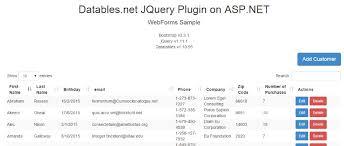 Bootstrap Data Table Asp Net Jquery Datatables Net Documentation