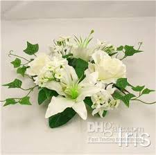flower candle rings wholesale 6 ps 25cm wedding silk flower candle ring cr bridal