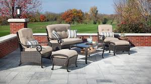 Wicker Patio Table Set Lake Como Seating Wicker Patio Furniture Set Khaki 6