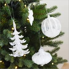 Christmas Decor For Home Multi Shape Snow White Crystal Christmas Tree Ornament Decorations