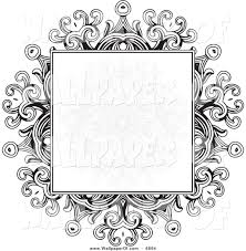 pattern clip art images wallpaper of a black and white gothic floral frame with a faded