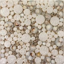 penny round glass mosaic tile backsplash ideas for kitchen walls