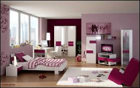 purple paint color for modern teenage girls bedroom ideas with tv
