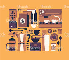 Coffee Shop Floor Plans Coffee Shop Symbols Stock Vector Art 165818498 Istock