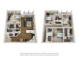 Half Bath Floor Plans Floor Plans The Villas At Riverbend Apartments Near Lsu