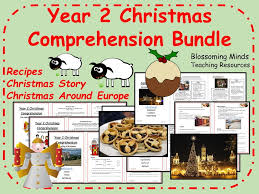 year 2 christmas comprehension bundle by blossomingminds