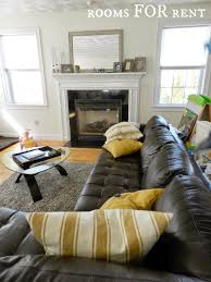 Decorate Living Room Black Leather Furniture How To Style A Dark Leather Sofa Den Makeover Beneath My Heart