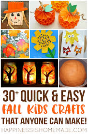 Kids Crafts Thanksgiving Make These Quick U0026 Easy Fall Kids Crafts In Under 30 Minutes Using