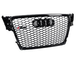 audi rs4 grill front grille for 2009 12 audi a4 s4 b8 rs4 style black mesh