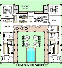 House Plans With Pools by House Plans With Courtyards In Front Floor Plan With Front