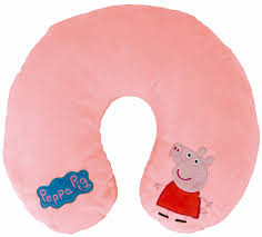 Neck Cusion Peppa Pig Travel Pillow Reversible Pink Plush Neck Cushion Head
