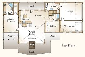 4 bedroom log home plans the stonington first floor i would make a few slight changes in the