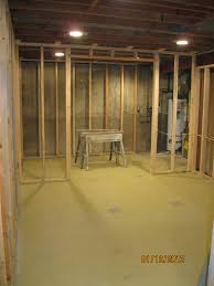 centerville lower level framing and electric remodeling