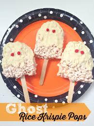 halloween ghost rice krispie pops recipe halloween treats