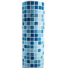 self adhesive wallpaper blue blue mosaic pvc self adhesive wallpaper vinyl for bathroom kitchen