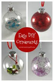 make these easy glass ornaments for your tree