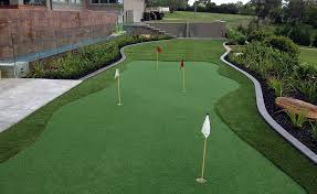 synthetic grass golf and putting greens classic backyards