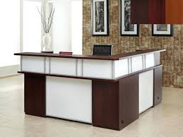 Affordable Reception Desk Affordable L Shaped Desk Contemporary Executive Office Set With An