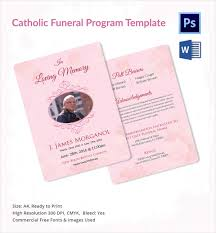 Funeral Programs Wording Sample Catholic Funeral Program 12 Documents In Pdf Psd Word