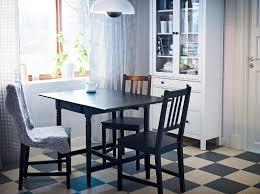 ingartorp black brown drop leaf table seats 2 4 with stefan brown