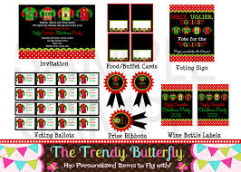 free printable christmas holiday party invitations features party