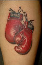 robert boxing gloves tattoo on shoulder real photo pictures