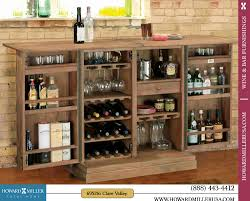 Large Bar Cabinet 695156 Howard Miller Classic Portable Wine Bar Console Cabinet