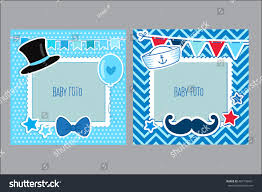 photo frames kids decorative template baby stock vector 407190421
