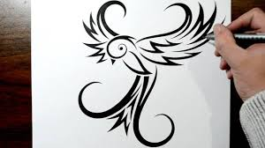tatoo design tribal how to draw a bird tribal swallow tattoo design style youtube