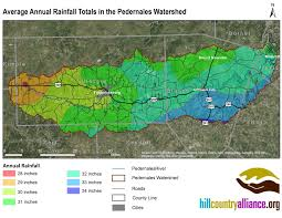 Texas Hill Country Map Pedernales River Basin Hill Country Alliance