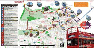 Map Of Union Square San Francisco by San Francisco Deluxe Sightseeing Tour Routes