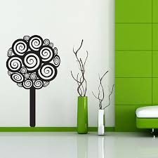 birds and blossom wall sticker tree and bird wall decor swirly tree wall sticker