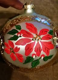 hallmark keepsake ornament poinsettias 1998 antique