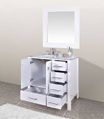 single sink vanity with drawers 36 perfecta pa 219 single sink cabinet bathroom vanity hyp elegant