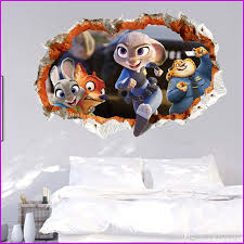 zootopia wall stickers living room bedroom wall decals stickers zootopia wall stickers living room bedroom wall decals stickers cartoon childrens room decor stickers art posters wallpaper wall stickers vinyl wall