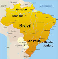 map of brazil brazil map showing attractions accommodation