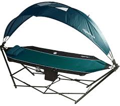Free Standing Hammock Chair Amazon Com Kijaro All In One Hammock Cayman Blue Iguana Sports