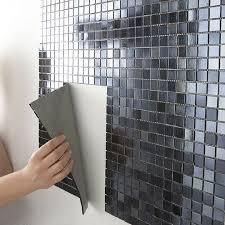 plaque autocollante cuisine mosaique salle de bain autocollante tendance déco tuiles céramiques