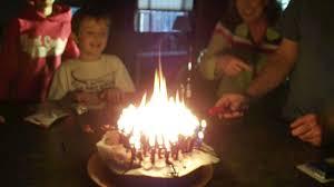 flaming cake youtube