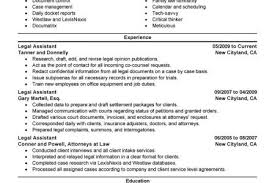 Legal Assistant Sample Resume by Senior Paralegal Resume Reentrycorps