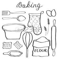 dessins cuisine dessin ustensiles de cuisine ensemble de cuisson
