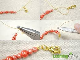 jewelry making necklace clasp images Step by step tutorial on making a beaded fringe necklace jpg