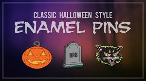 classic halloween style enamel pins by jake caputo u2014 kickstarter