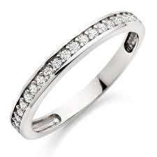 eternity ring 9ct white gold cubic zirconia eternity ring 0005476