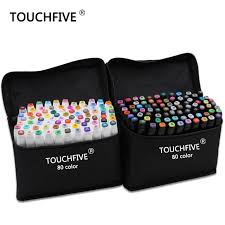 aliexpress com buy touchfive marker 30 40 60 80 color alcoholic
