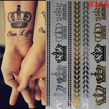 new metalic tatoos gold metallic temporary flash tattoos