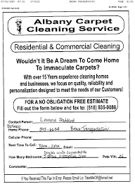 Carpet Cleaning Estimate Form by Fax Broadcast Sales Leads Fax Sle Ads Advertisements